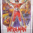 INFRA MAN ~ '75 US 1 Sheet Movie Poster ~ HONG KONG SCI-FI SUPER HERO / RARE BIONIC MAN STYLE!