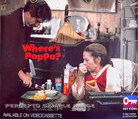WHERE'S POPPA? ~ Rare Size 80s Movie Poster ~ Ruth GORDON / George SEGAL / Carl REINER