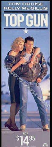 TOP GUN ~ Sexy '90 Promo Poster / RARE SIZE LT. EDITION ~. Tom CRUISE / Kelly McGILLIS