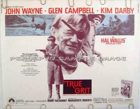 TRUE GRIT ~ Orig '69 Rolled Half-Sheet Movie Poster! ~ JOHN WAYNE / KIM DARBY / GLEN CAMPBELL