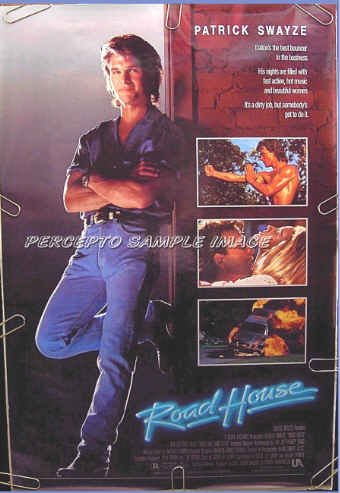 ROAD HOUSE ~ Orig '89 1 Sheet CULT CLASSIC Movie Poster ~ PATRICK SWAYZE