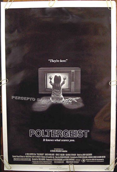 POLTERGEIST  Ex-Cond '82 1-Sheet Movie Poster!  STEVEN SPIELBERG