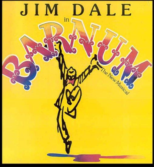 BARNUM ~ NR-MINT '80 Broadway Cast Vinyl LP ~ JIM DALE / GLENN CLOSE
