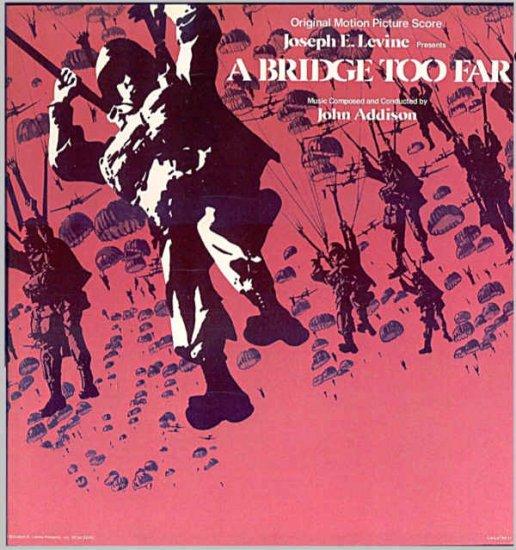 A BRIDGE TOO FAR  ~ Orig 70s Movie Soundtrack Vinyl LP ~ JOHN ADDISON