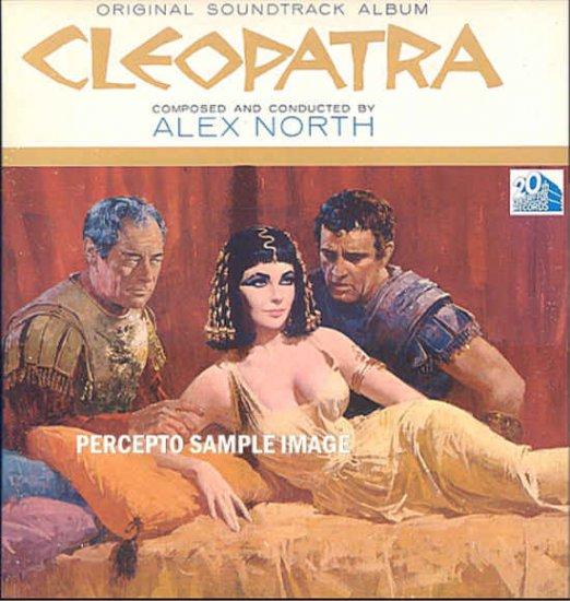 CLEOPATRA ~ Original '63 Liz Taylor Movie Soundtrack Vinyl LP ~ ALEX NORTH
