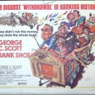 BANK SHOT ~ Rare JACK DAVIS Cartoon ART ~ Orig '74 Half-Sheet Movie Poster ~ GEORGE C SCOTT