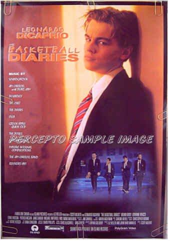 BASKETBALL DIARIES ~ '95 Ex-Cond 1-Sheet Movie Poster ~ LEONARDO DiCAPRIO