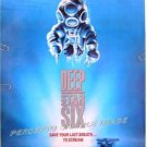 DEEP STAR SIX ~ '89 HORROR 1-Sheet Movie Poster ~ GREG EVIGAN / MIGUEL FERRER / DEEP SEA DIVING