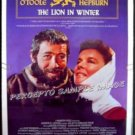 LION IN WINTER ~ '87 1-Sheet Movie Poster ~ KATHERINE HEPBURN / PETER O'TOOLE / TIMOTHY DALTON