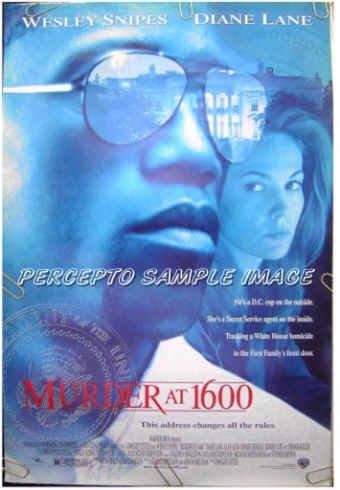 MURDER AT 1600 ~ Ex-Cond '97 1-Sheet Movie Poster ~ WESLEY SNIPES / DIANE LANE / ALAN ALDA