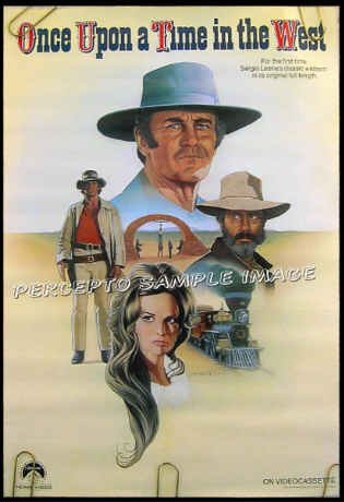ONCE UPON A TIME IN THE WEST ~ Orig 80s Promo Movie Poster ~ SERGIO LEONE / HENRY FONDA