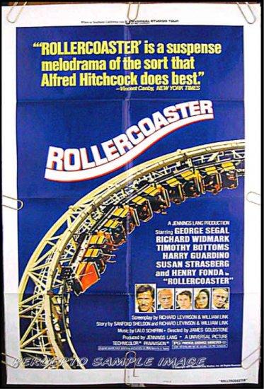 ROLLERCOASTER ~  '77 1-Sheet Movie Poster ~ GEORGE SEGAL / HENRY FONDA / RICHARD WIDMARK