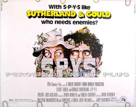 S*P*Y*S ~ '74 Half-Sheet Movie Poster ~ SPYS / DONALD SUTHERLAND / ELLIOTT GOULD