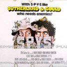 S*P*Y*S ~ '74 Half-Sheet Movie Poster ~ SPYS / DONALD SUTHERLAND / ELLIOTT GOULD