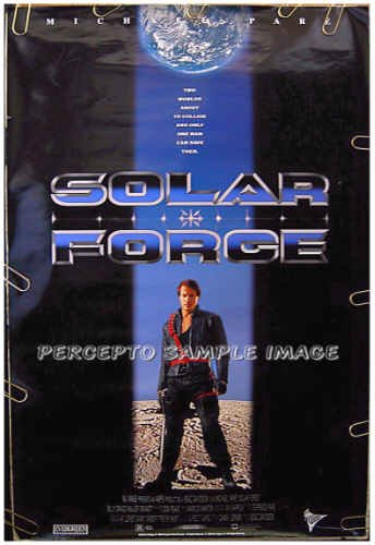 SOLAR FORCE ~ Rare '95 SCI FI 1-Sheet Movie Poster ~ MICHAEL PARE