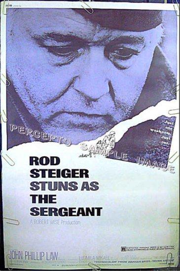 The SERGEANT ~ RARE SIZE '68 40x60 Movie Poster ~ GAY INTEREST / ROD STEIGER / JOHN PHILLIP LAW