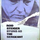 The SERGEANT ~ RARE SIZE '68 40x60 Movie Poster ~ GAY INTEREST / ROD STEIGER / JOHN PHILLIP LAW