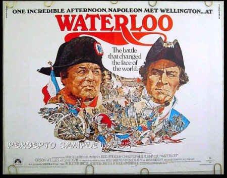 WATERLOO ~ RARE SIZE '70 Half-Sheet Movie Poster ~ NAPOLEON / ROD STEIGER / CHRISTOPHER PLUMMER