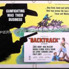BACKTRACK ~ '69 Half-Sheet COWBOY Movie Poster ~ TV WESTERN / The VIRGINIAN / LAREDO / DOUG McCLURE