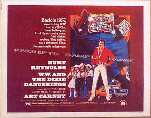 W W And The DIXIE DANCEKINGS ~ '75 Half-Sheet Movie Poster ~ BURT REYNOLDS / ART CARNEY