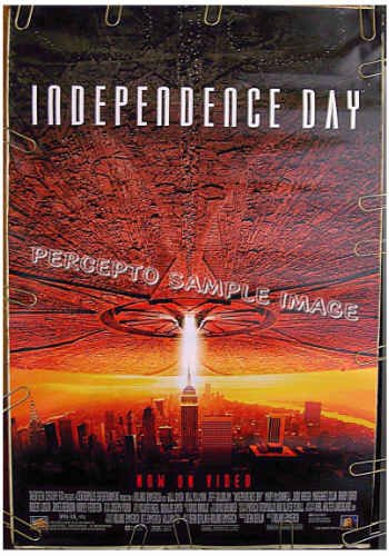 INDEPENDENCE DAY ~ 1-Sheet Movie Poster ~ EMPIRE STATE BUILDING / WORLD TRADE CENTER / FLYING SAUCER