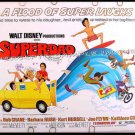 SUPERDAD ~ '74 Half-Sheet  WALT DISNEY Movie Poster ~ BOB CRANE / KURT RUSSELL / BARBARA RUSH