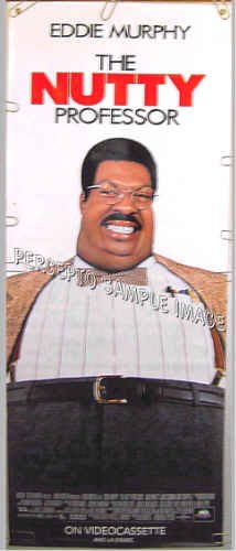 NUTTY PROFESSOR / EDDIE MURPHY ~ RARE 5 Foot Vinyl Movie Poster Banner ~ 1996 COMEDY CLASSIC