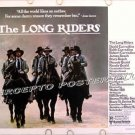LONG RIDERS ~ '80 Half-Sheet Western Movie Poster ~ DAVID CARRADINE / DENNIS QUAID / STACY KEACH