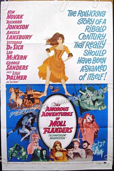 Amorous Adventures Of MOLL FLANDERS ~ '65 1-Sheet Movie Poster ~ KIM NOVAK / ANGELA LANSBURY