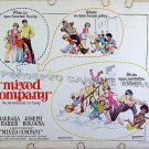 MIXED COMPANY ~ '74 FRANK FRAZETTA Art Half-Sheet Movie Poster ~ BARBARA HARRIS / JOSEPH BOLOGNA