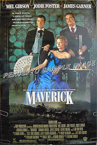 MAVERICK ~ 1-Sheet Advance Western Movie Poster ~ MEL GIBSON / JODIE FOSTER / JAMES GARNER
