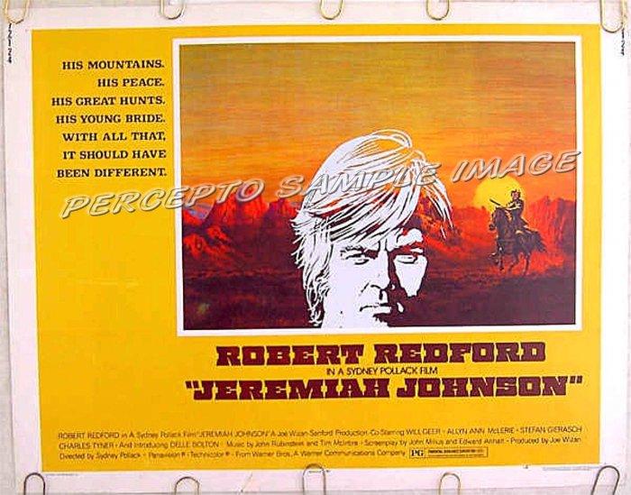 JEREMIAH JOHNSON ~ Rare-Size '72 US Half-Sheet Movie Poster ~ ROBERT REDFORD