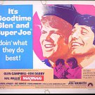 NORWOOD ~ '70 Half-Sheet Movie Poster ~ JOE NAMATH / GLEN CAMPBELL / KIM DARBY
