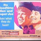 NORWOOD ~ '70 Half-Sheet Movie Poster ~ JOE NAMATH / GLEN CAMPBELL / KIM DARBY