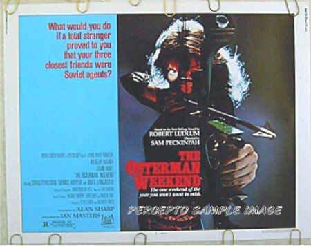 OSTERMAN WEEKEND ~ '83 Half-Sheet Movie Poster ~ SAM PECKINPAH / RUTGER HAUER / BURT LANCASTER