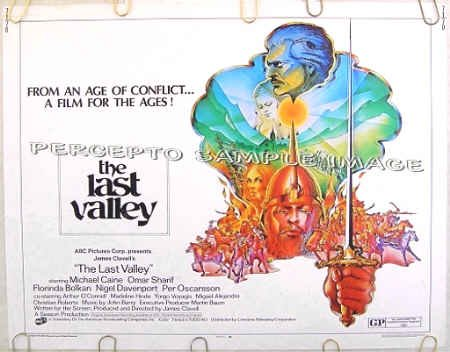 The LAST VALLEY ~ '70 Half-Sheet Movie Poster ~ OMAR SHARIF / MICHAEL CAINE / JAMES CLAVELL