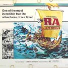 The RA EXPEDITIONS ~ '74 Half-Sheet Movie Poster ~ THOR HYERDAHL / Sea & Sailing Documentary
