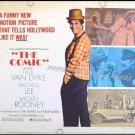 THE COMIC ~ '69 Half-Sheet Movie Poster ~ DICK VAN DYKE / MICKEY ROONEY / MICHELE LEE / CARL REINER