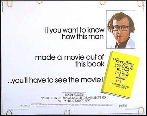 EVERYTHING YOU ALWAYS WANTED TO KNOW ABOUT SEX ~ '72 Half-Sheet Movie Poster ~ WOODY ALLEN