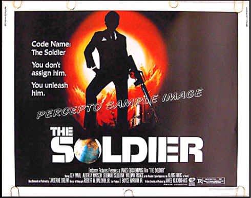 THE SOLDIER ~ '82 Half-Sheet 22X28 SPY Movie Poster ~ KEN WAHL / KLAUS KINSKI