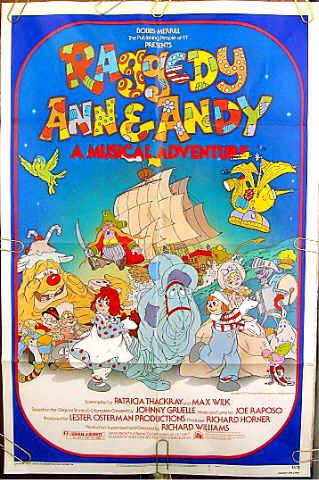 RAGGEDY ANN & ANDY ~ '77 1-Sheet ANIMATION ART Movie Poster ~ Children's Classic
