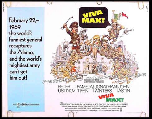 VIVA MAX ~ '70 Half-Sheet Movie Poster ~ JACK DAVIS Art / ALAMO / PETER USTINOV / JONATHAN WINTERS
