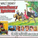 SWISS FAMILY ROBINSON ~ '75 DISNEY Half-Sheet Movie Poster ~ TOMMY KIRK / JAMES MacARTHUR