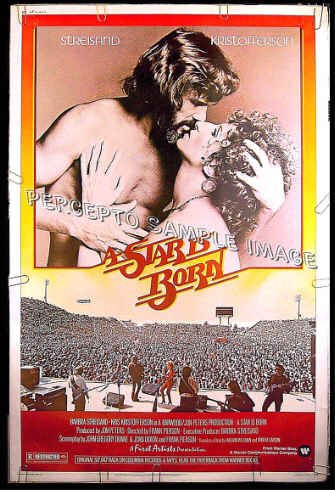 A STAR IS BORN ~ '77 Rare-Size 40x60 Musical Movie Poster ~ BARBRA STREISAND / KRIS KRISTOFFERSON