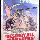 DESTROY ALL MONSTERS ~ '76 40X60 SCI-FI Movie Poster ~ GODZILLA / RODAN / MOTHRA / REYNOLD BROWN ART