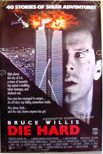 DIE HARD ~ Original 1988 Rolled 1-Sheet Movie Poster ~ BRUCE WILLIS / BONNIE BEDELIA