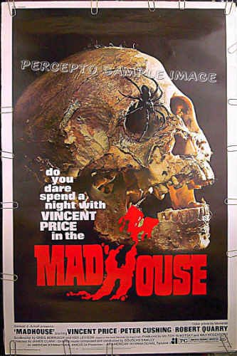 MADHOUSE ~ Rare-Size 40x60 AIP Movie Poster ~ VINCENT PRICE / PETER CUSHING / ROBERT QUARRY