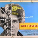 SWEET REVENGE ~ RARE '77 Half-Sheet Movie Poster ~ STOCKARD CHANNING / SAM WATERSTON