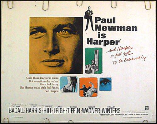 HARPER ~ '66 Half-Sheet Movie Poster ~ PAUL NEWMAN / JANET LEIGH / LAUREN BACALL