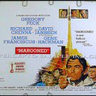 MAROONED ~ '69 Sci-FI Half-Sheet Movie Poster ~ GREGORY PECK / GENE HACKMAN / NASA ASTRONAUTS